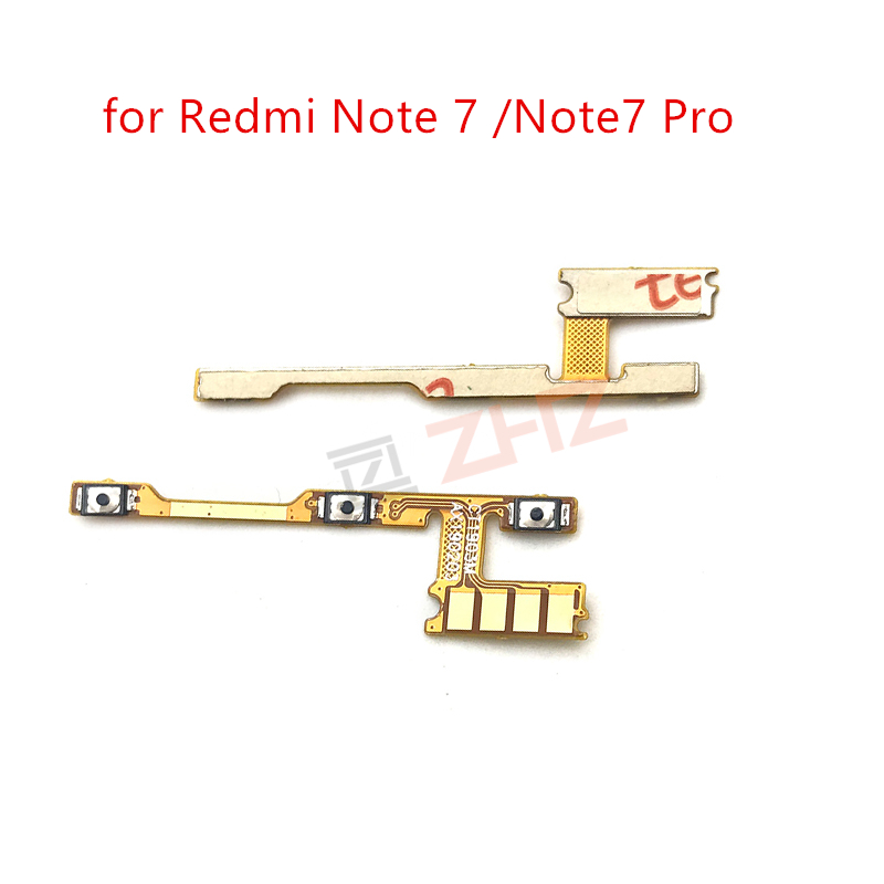 for Xiaomi Redmi Note 7/ Note 7 Pro Power Volume Side Key Button Flex Cable ON OFF Switch Flex Cable Replacement Repair Parts(China)