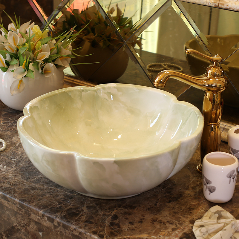 China Artistic Europe Style Counter Top porcelain wash basin bathroom sinks ceramic art lavabo bowl (1)