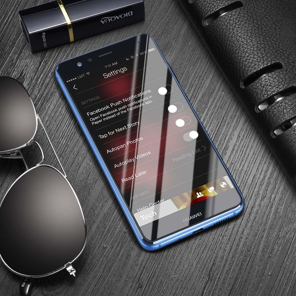 For Huawei Tempered Glass Screen Protector 2 5D 0 3mm HD Anti Scratch Tempered Glass For Huawei P8 P10 Lite Protective Film in Phone Screen Protectors from Cellphones Telecommunications