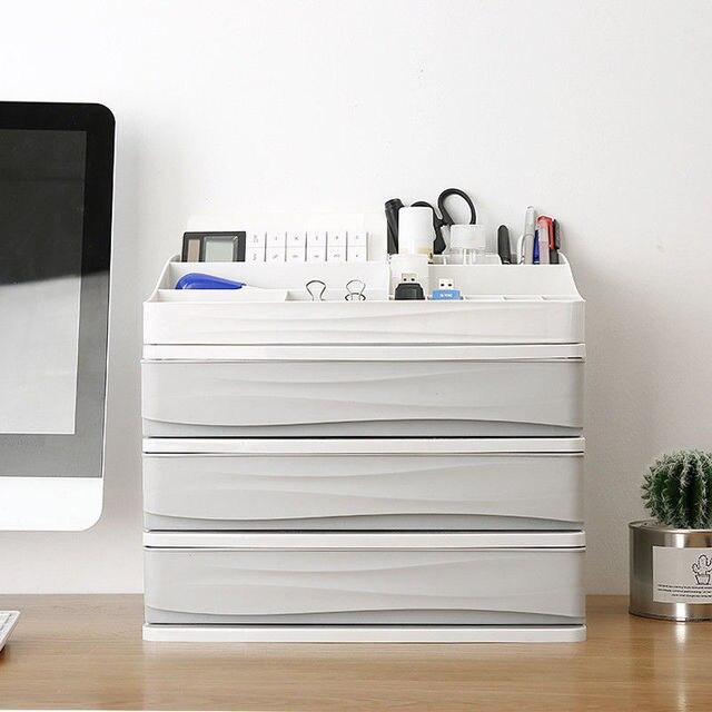 Многослойный пластиковый косметический ящик, органайзер для макияжа, контейнер для хранения, шкатулка для ногтей, настольный чехол для хранения