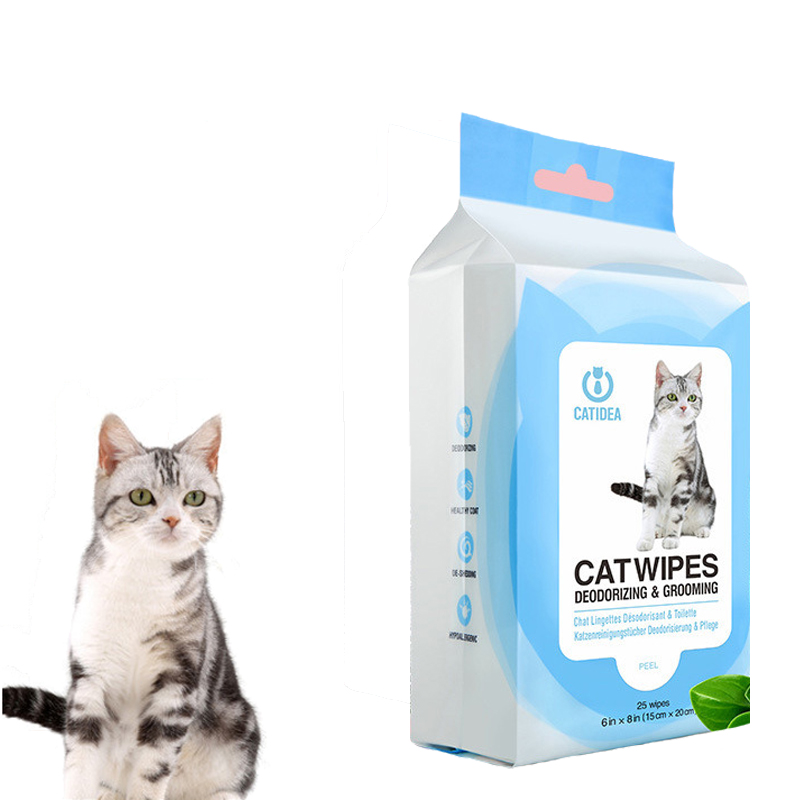 100Pcs/ Bag Dogs Cats Wipes Clean Disinfection Wet Tissue Pet Dogs Clean Pets Clean Towel Pet Wipes Pet Grooming Products