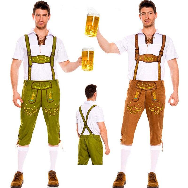 Человек Октоберфест костюмы Октоберфест баварского пива партии <font><b>Lederhosen</b></font> и топ взрослых Для мужчин плюс Размеры Хорошее качество