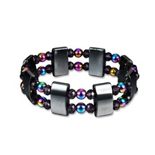 Bracelet Therapy-Beads Weight-Loss Health-Care Hematite Anti-Fatigue Adjustable Magnetic