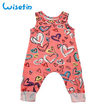 Wisefin Baby Girl Strampler Sommer 2018 Strampler Neugeborenen Kleidung Mädchen Sleeveless Kleinkind Overall Herzförmigen Baby Strampler
