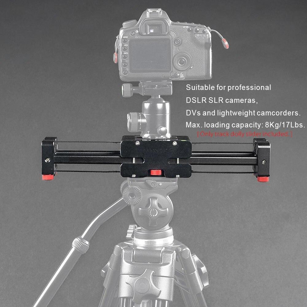 Компактный Выдвижной трек Долли слайдер 50 см Rail Стрельба видео стабилизатор 86 см фактическая раздвижные расстояние