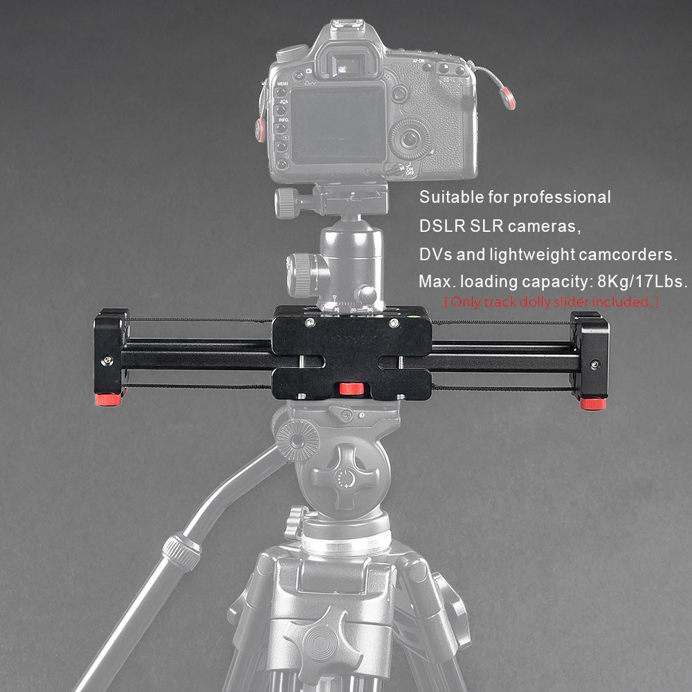 Compact Retractable Track Dolly Slider 50cm Rail Shooting Video Stabilizer 86cm Actual Sliding Distance fotomate lp 02 200mm movable 2 way macro focusing rail slider black