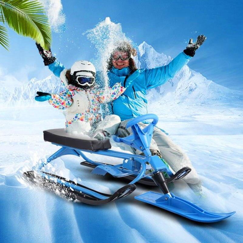 Épaissie Skis avec Freins Unique-Conseil Skis Sandboards Double Adulte Enfants Résistant à l'usure de Traîneaux