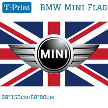 Free shipping 90*150cm 60*90cm Mini Flag For Car Show Polyster BMW Mini Banner For Office Home