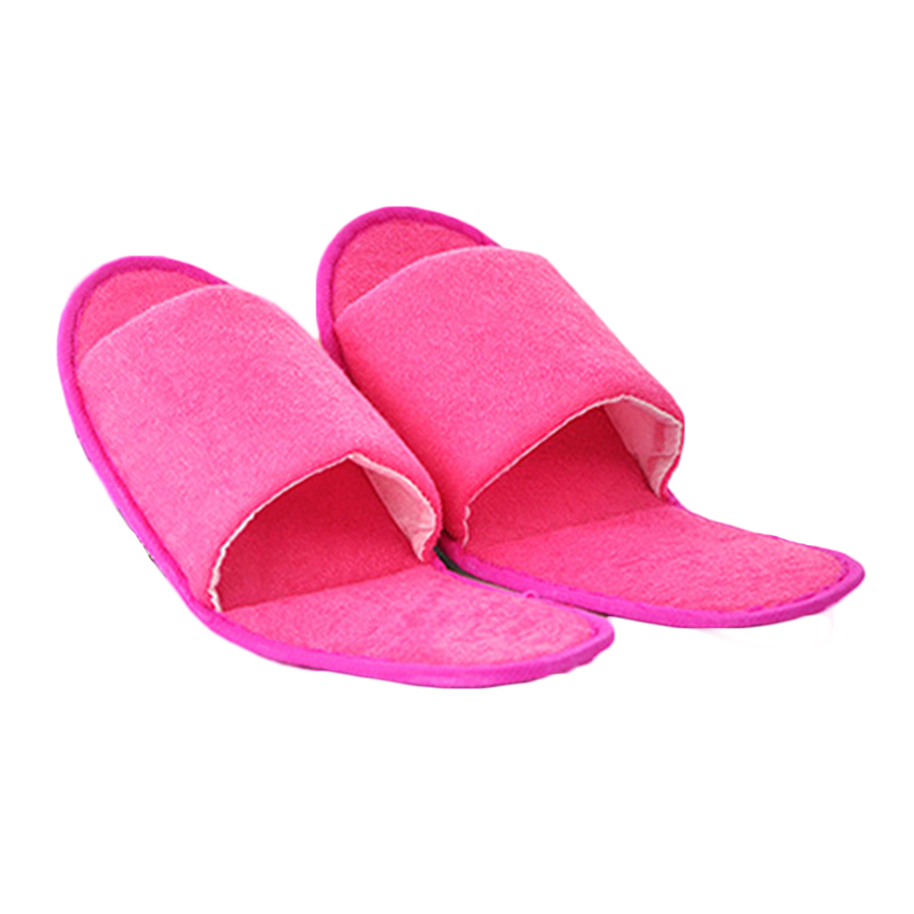 2019 New Simple Unisex Slippers Hotel Travel Spa Portable Men Slippers Disposable Home Guest Indoor Cotton Fabric Men Slipper in Slippers from Shoes