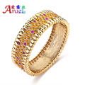 pulseira ouro African gold plated jewelry bracelet femme  Austrian crystal luxury wedding bride bracelets & bangles for women