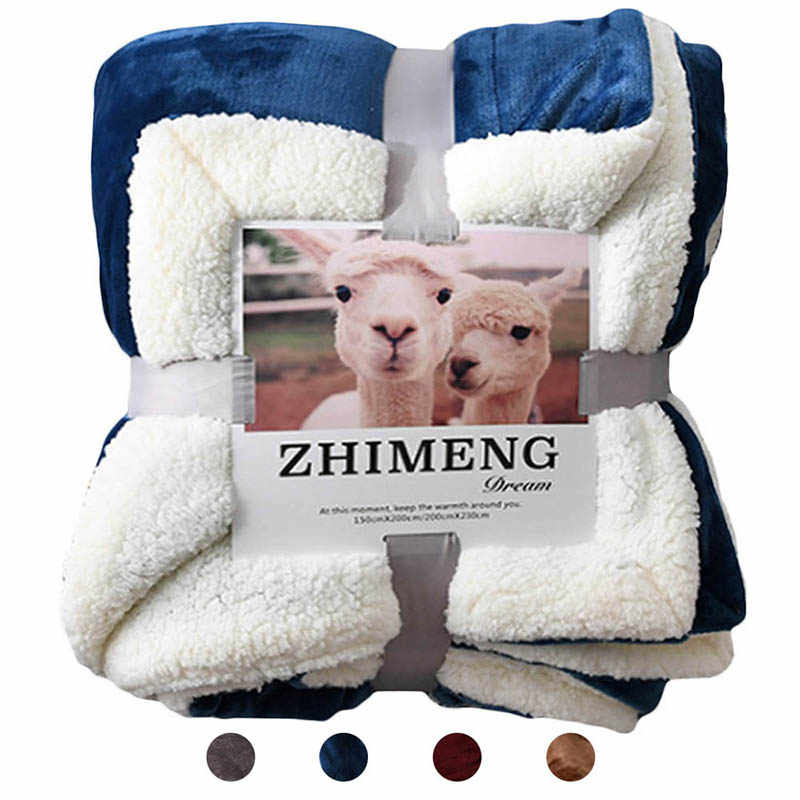 DIDIHOU Warm Thick Office Home Blanket Towel Fleece Reversible Blanket For Bed And Couch Travel Portable Car Throw Blanket