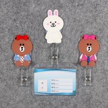 Women Men Badge Scroll Nurse Reel Bear Character Scalable Colors Little Rabbit Girls B Exhibition ID Plastic Card Holder