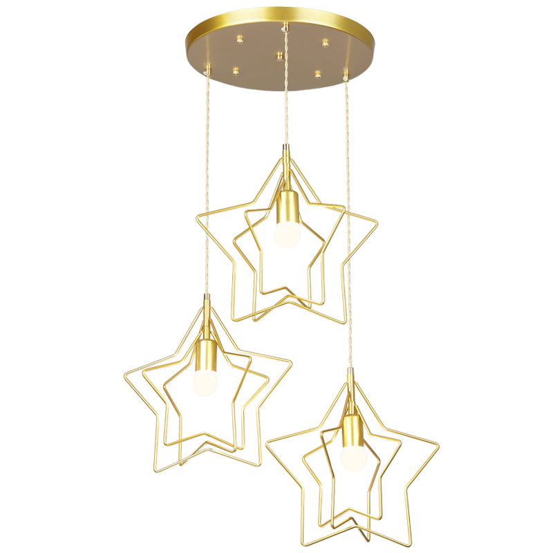 Modern minimalist restaurant lighting creative five-pointed star bedroom bar single head small Pendant Lights WF422940Modern minimalist restaurant lighting creative five-pointed star bedroom bar single head small Pendant Lights WF422940