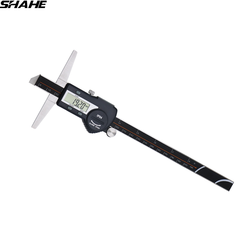 shahe 0-200 mm 0.01 mm digital caliper stainless steel vernier caliper paquimetro digital depth gauge tool measurement mother of pearl футболка с короткими рукавами