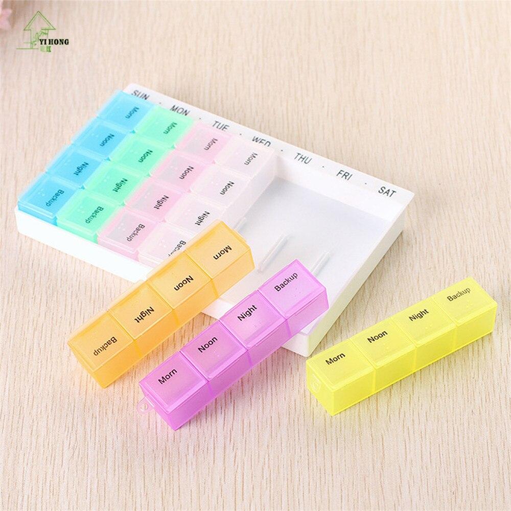 Yi Hong еженедельно 7 дней 28grids Планшеты Pill Box держатель Медицина хранения Организатор Дело контейнер