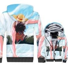 HAMPSON LANQE  3D Hoodies Sweatshirts Men One Piece Monkey Printed Casual Loose Fit Jacket 2019 Winter Warm Fleece Thick Hoody