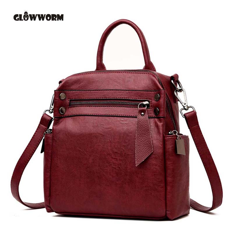Genuine leather Women backpack 2018 New wave of female students backpack spring and summer fashion casual Korean bag the new spring and summer 2016 korean fashion jeans female hole loose jeans page 6