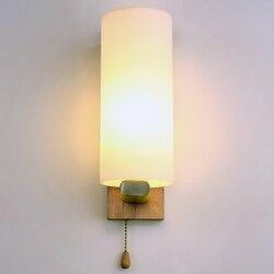 Nowoczesna sypialnia LED lampka nocna kinkiet proste kreatywne z litego drewna kinkiet salon hotel alejek światła ZP4241551|Wewnętrzne kinkiety LED|   -