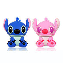 Hot! Cartoon Memory Stick Lilo & Stitch Usb Flash Drive 4GB 8GB 16GB 32GB 64GB 128GB U Disk pendrive Exempt postage