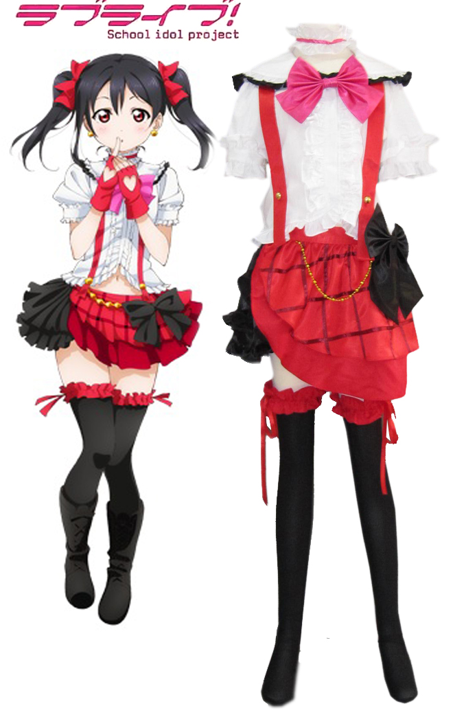 Love Live Yazawa Niko Bianco Lolita Cosplay Dress