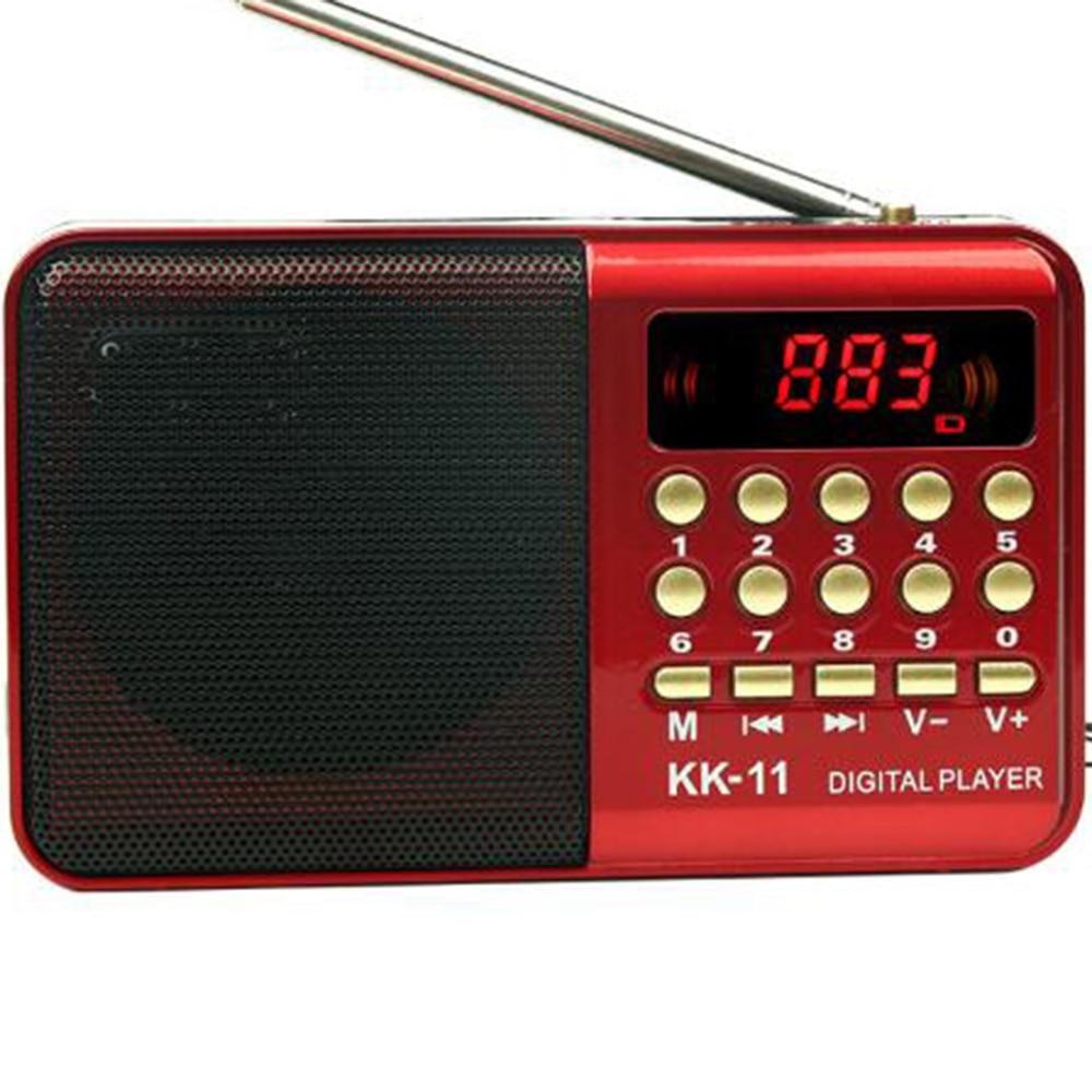 Digital Radio fm Portable Mini FM Radio Speaker Music Player Telescopic Antenna Handsfree Pockets Receiver Outdoor Sport kk-11