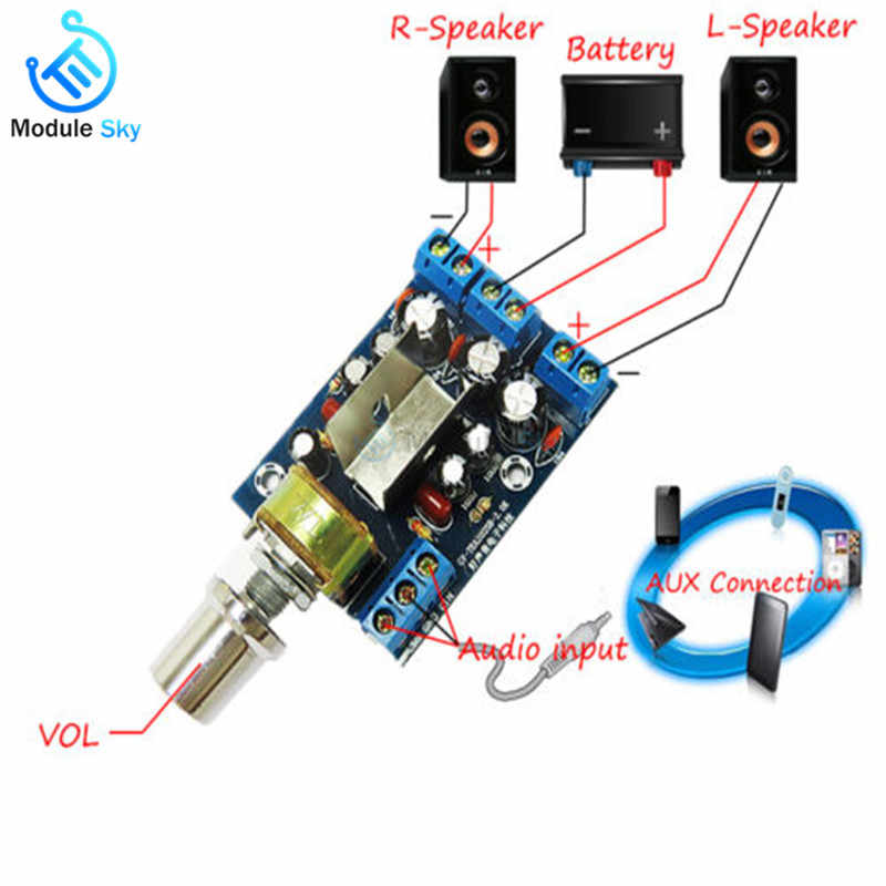 TEA2025B Mini Audio Amplifier Board Dual Stereo 2.0 Channel Amplifier Board For PC Speaker 3W+3W 5V 9V 12V CAR