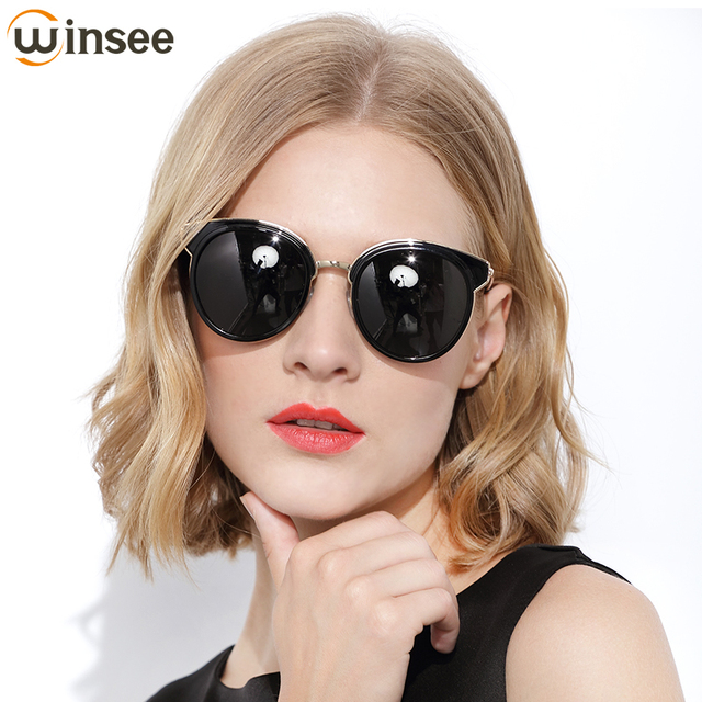 232773e944c Winsee Sunglasses female 2018 new polarized glasses round face ladies UV  protection tide 2017 star models