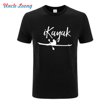 100% cotton cool men funny New Fashion Kayak T shirt casual short sleeve sport summer loose tshirt male t-shirt tops
