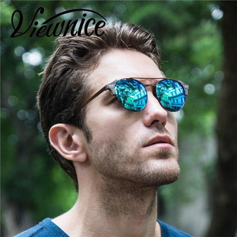 Viewnice Retro Fashion Man gafas aus holz De sol lunette de soleil - Bekleidungszubehör - Foto 2