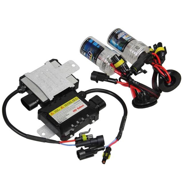 A Estrenar 12 V 55 W DC Car H3 Kit de lámpara de Xenón HID de Lastre Auto Car Lámpara de La Linterna para 4300 k 5000 k 6000 k 8000 k 10000 k Fuente de Luz