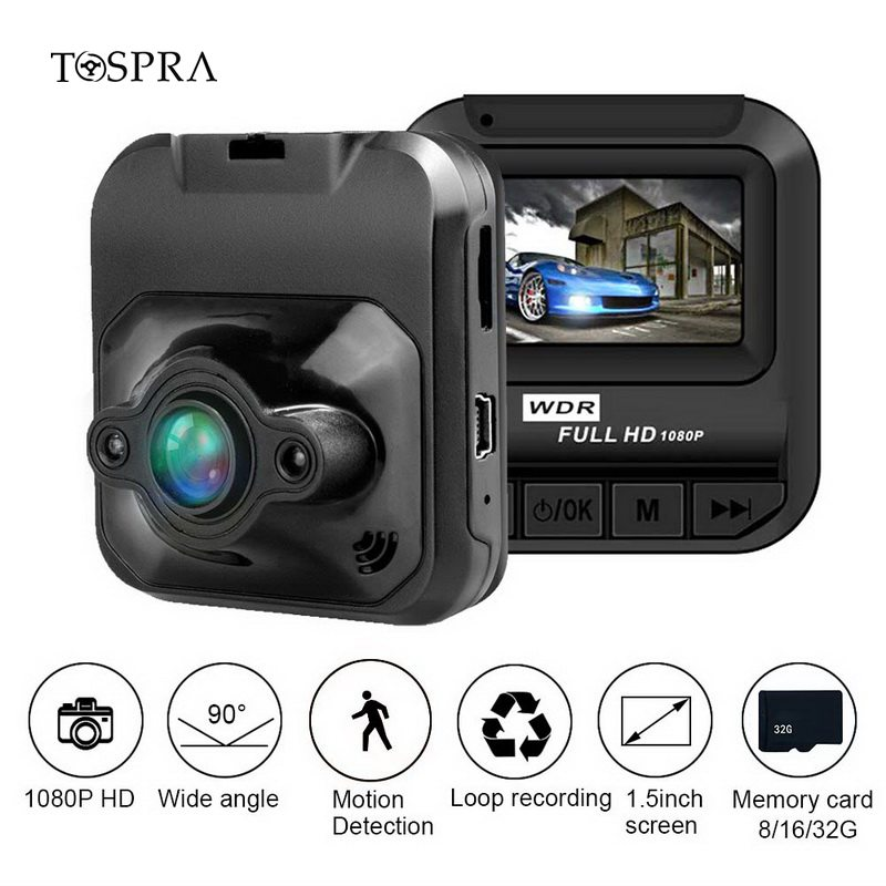 TOSPRA Car DVR Recorder-Camera Video Registrator Dash-Cam Full-Hd Mini 1080P