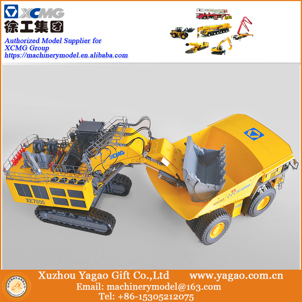 Combo per 2018 Nuovo Lancio 1:50 XDE360 partita 1:50 XCMG XCMG XE7000 Mining Escavatore Minerario Camion, raccolta, Libera La Nave Veloce