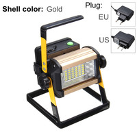2400LM 4 Modes 50W 36 LED Floodlights Rechargeable LED Flood Light Spot Camping Portable Outdoor Flashing Lamp EU/US plug