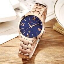 Women's Curren Watches Luxury Gold Stainless Steel Quartz Watch Curren Brand Women Watches Fashion Ladies Clock relogio feminino цена и фото