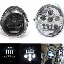 DOT E9 moto en aluminium noir phare pour Harley V Rod VROD VRSCA VRSC phare VRSC/V ROD moto phare LED