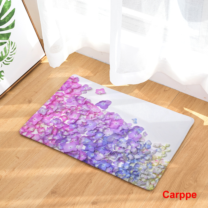 New Anti Slip Carpets Personality Creative Plants Print Mats Bathroom Floor Kitchen Rugs 40x60or50x80cm
