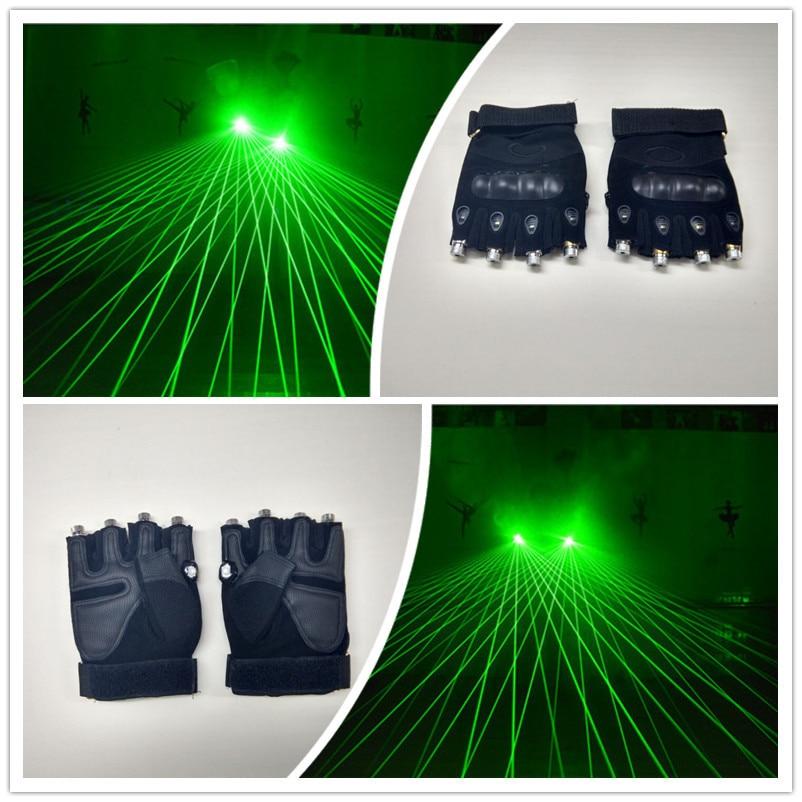 그린 DJ 레이저 장갑 4pcs 650nm 130mw 레이저 디스코 laserman 쇼 장갑 DJ 클럽 / 파티 쇼