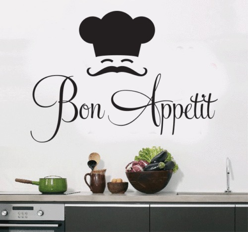 d457 bon appetit quote art removable vinyl mural wall sticker