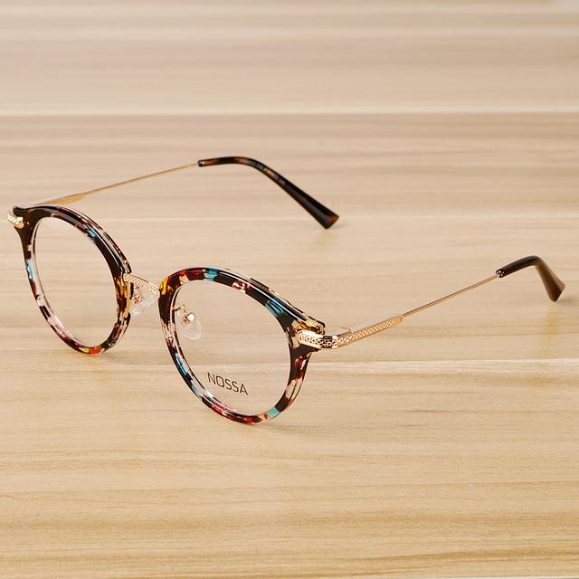 NOSSA Floral Do Vintage Óculos de Armação Mulheres Homens Óculos Retro Quadros Clássicos Unissex Óculos de Armação de óculos de Prescrição Óptica