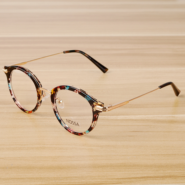 c3d13b1fcbe NOSSA Vintage Floral Glasses Frame Women Men Retro Eyeglasses Frames  Classic Unisex Optical Prescription Spectacle Frame