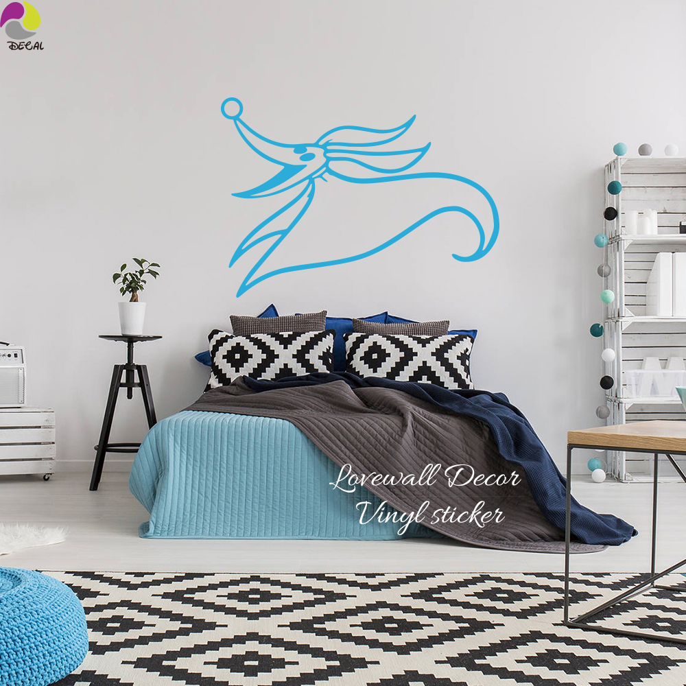Nightmare Before Christmas Wall Sticker Bedroom Kids Room Jack Skellington  Zero Dog Wall Decal Halloween Vinyl Home Decor In Wall Stickers From Home  ... Part 49