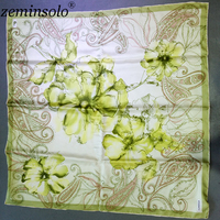 High Quality 100 Mulberry Silk Scarf Bandana Square Genuine Printed Luxury Brand Silk Scarves For Women
