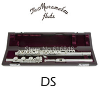 Muramatsu DS C Tune Flute 17 Keys Holes Open Cupronickel Body Silver Plated Surface Instrument Flute With Case Free Shipping