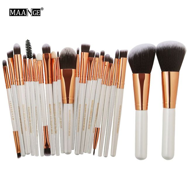 MAANGE 20/22Pcs Beauty Makeup Brushes Set Cosmetic Foundation Powder Blush Eye Shadow Lip Blend Make Up Brush Tool Kit Maquiagem 1