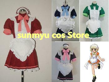 Free Shipping!Tokyo Mew Mew Ichigo Minto Lettuce Zakuro Pudding Maid Clothing Cosplay Costume,Size customizable