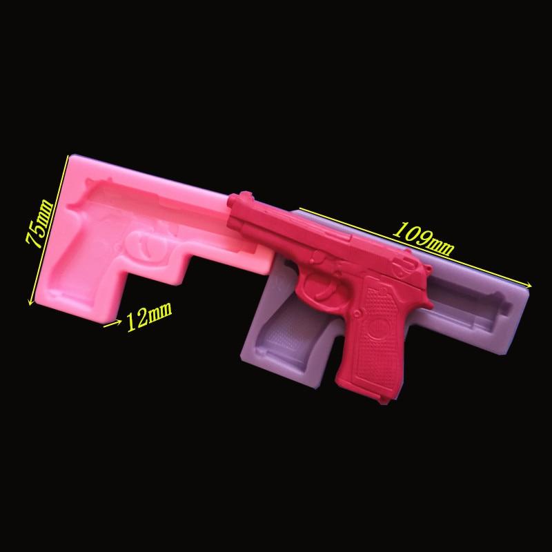 1 st New Gun design silikon tårta form fondant mögel kaka - Kök, matsal och bar