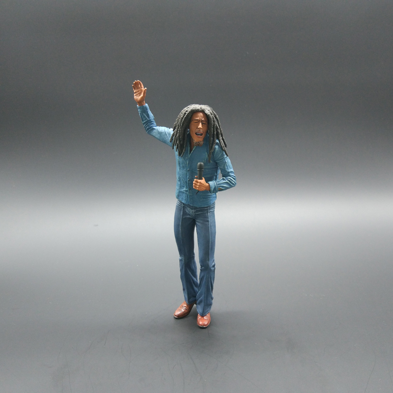Bob Marley Figure Music Legends Jamaica Singer Microphone PVC Action Figure Collectible Model Toy