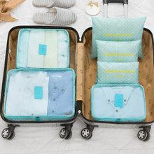 2cdd172a4f3fb 6 sztuk zestaw przechowywania torby na bagaż walizka Pounch biustonosz  kosmetyki bielizna organizator etui podróżne