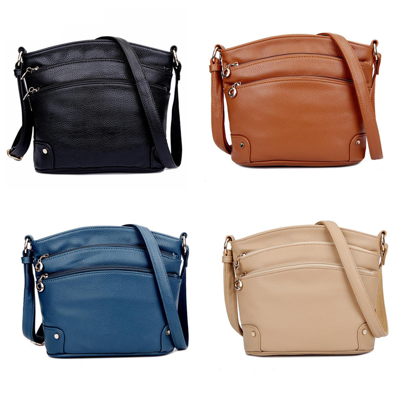 bolsa de couro para as Color : Black/brown/khaki/blue