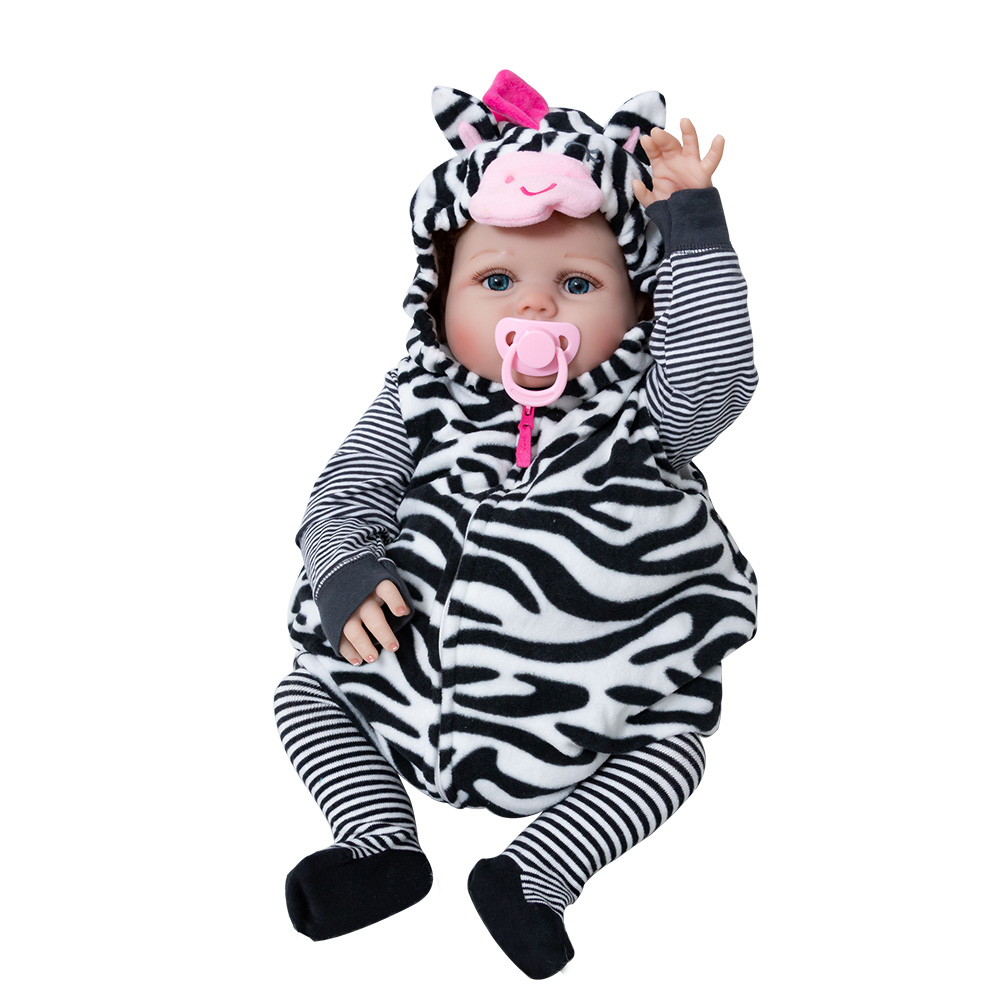 Hot Sale Reborn Baby Doll Soft Silicone Stuffed Lifelike Baby Doll Child s Playmate Toy Doll